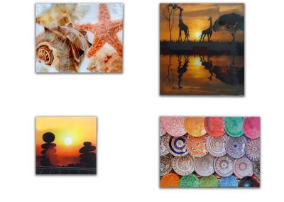 Cuadros de vidrio y canvas