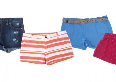 Variedad de shorts